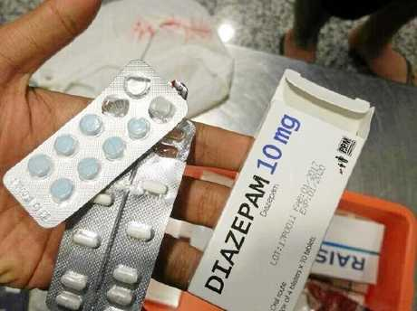 Australian man Joshua James Baker is alleged to have had Diazepam in his bag.