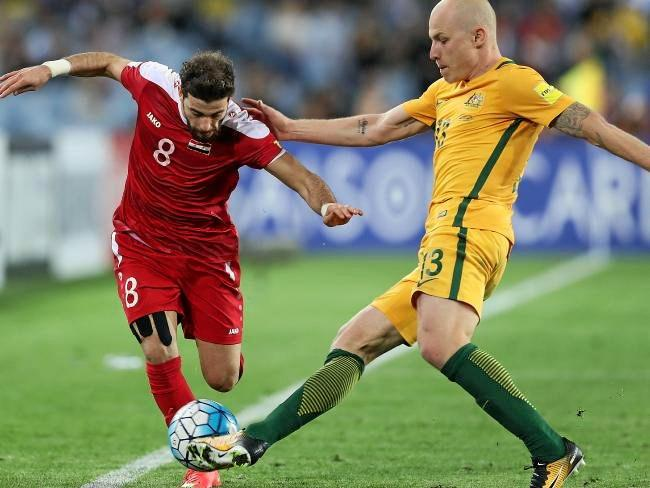 Aaron Mooy in action against Syria.
