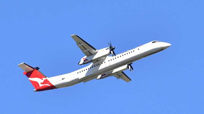 Qantaslink flight out of Hervey Bay.Photo: Alistair Brightman / Fraser Coast Chronicle