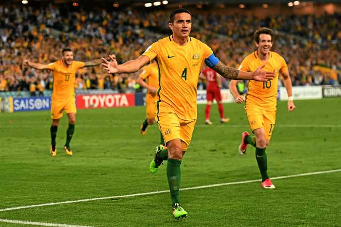 Tim Cahill and the Socceroos face Honduras in a two-legged playoff for World Cup qualification next month.