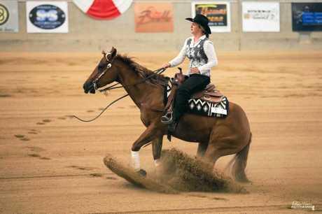 Kayla Kington in action.