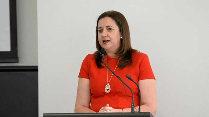 Premier Annastacia Palaszczuk addresses a Capricorn Enterprises function in Rockhampton.