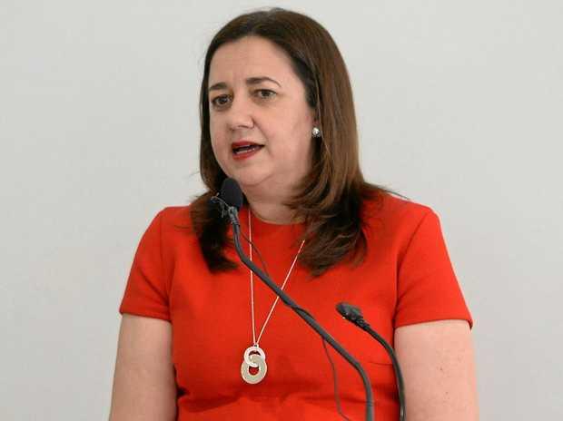 Premier Annastacia Palaszczuk addresses a Capricorn Enterprises function in Rockhampton.