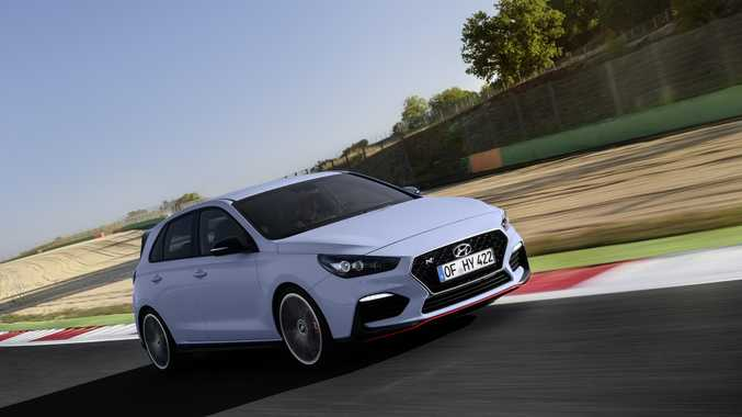 The 2017 Hyundai i30N (overseas model).