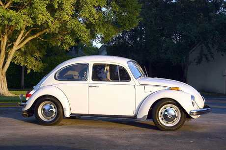 FAMILY CAR: The Volkswagen Beetle.