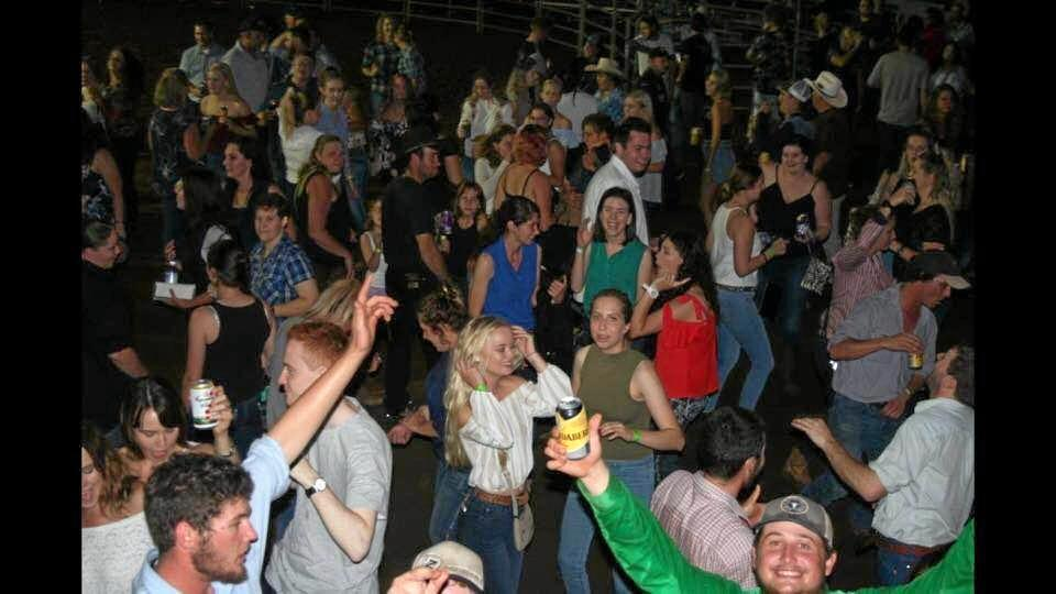 TOP NIGHT: Revelers danced to Mik Oberle  after the  action .