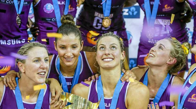 Laura Geitz (second from right) is making a return to Super Netball.