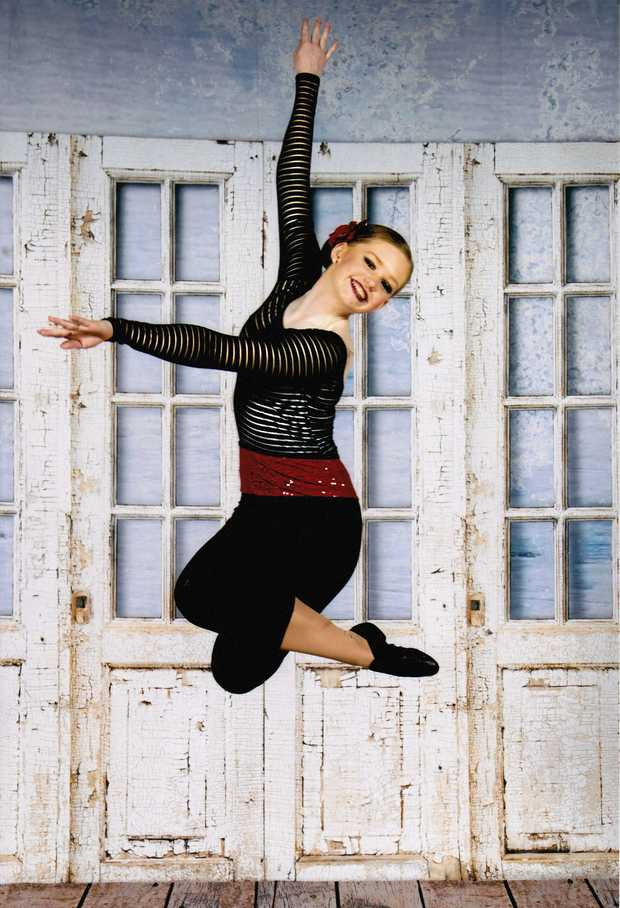 DANCING TO GLORY: Warwick dancer Eve Kelly is chasing her dream of entering the world of musical theatre.