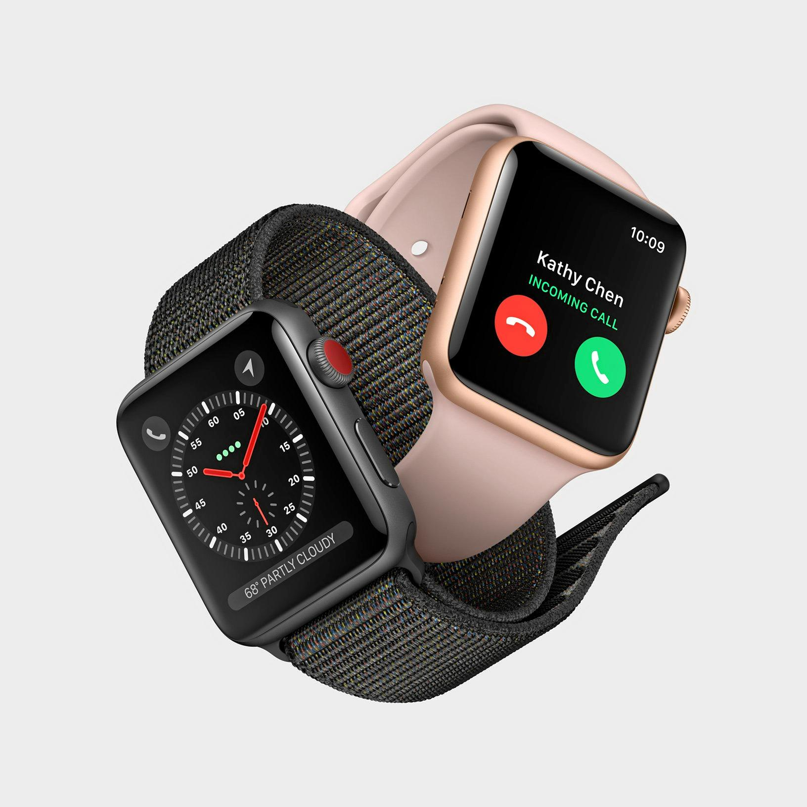 Apple Watch Series 3 features a clever antenna design that uses the display itself to transmit and receive.