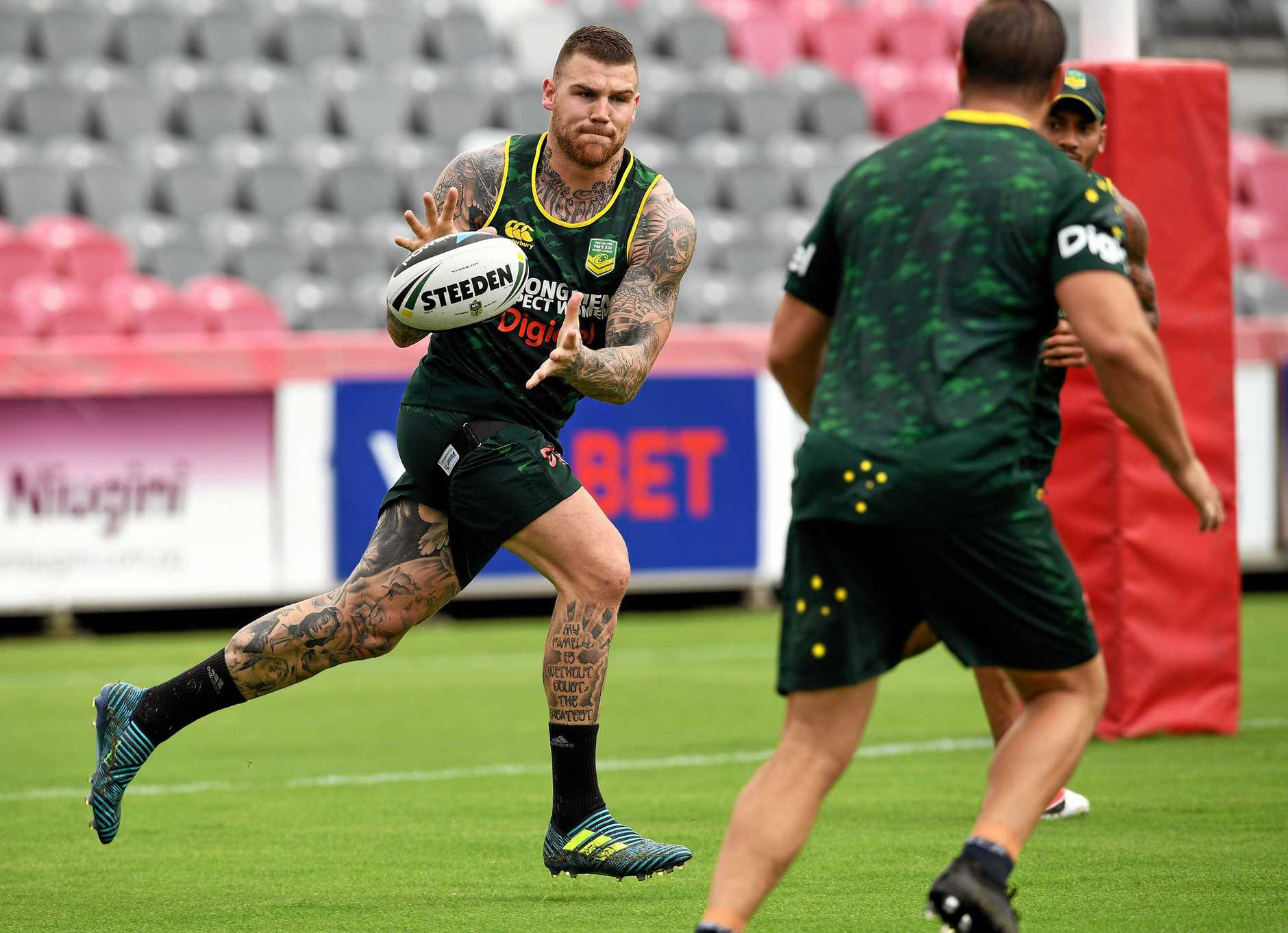 Josh Dugan is a potential No.1 for the Sharks. (AAP Image/NRL)