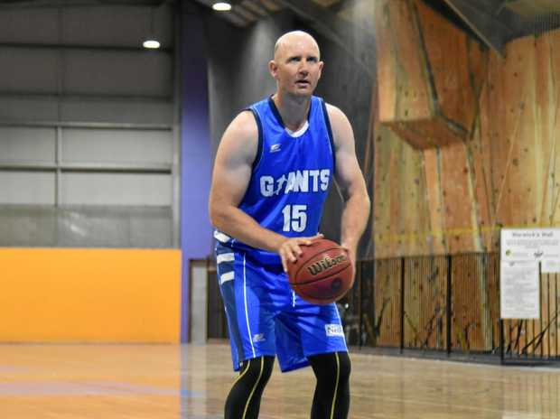 FREE SHOT: Damian Petrie from the Granite Belt Giants' A-grade team that is part of the inaugural Big Q basketball competition.