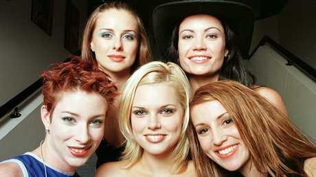 Bardot without Barry: Katie Underwood, Belinda Chapple, Sophie Monk, Tiffany Wood and Sally Polihronas.Source:News Corp Australia