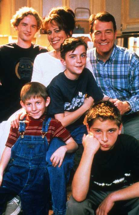 Malcolm in the Middle cast (clockwise from back left) Christopher Kennedy Masterson, Jane Kaczmarek, Frankie Muniz, Bryan Cranston, Justin Berfield and Erik Per Sullivan.
