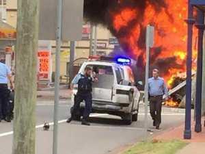 Massive truck fire in Singleton