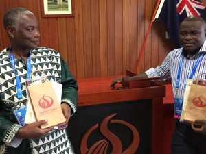 Cameroon officials in Warwick regarding Commonwealth Games