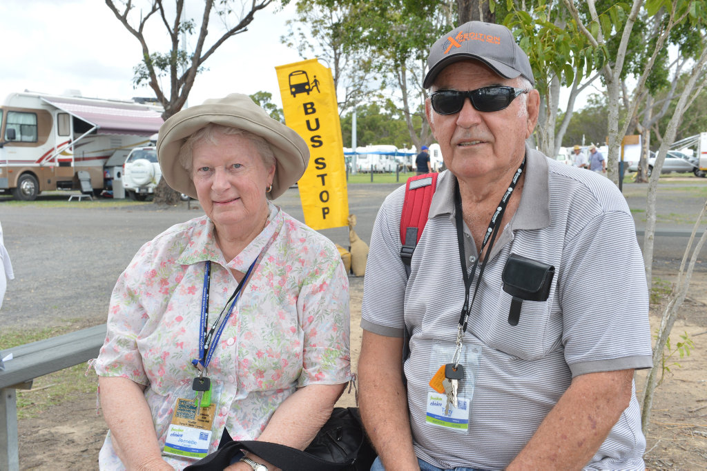SHOPPING TRIP: Jeanette and Terry Farmer at the CMCA Rally