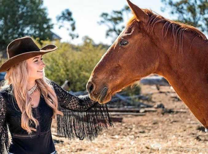 2018 Rodeo Queen of Australia Rebekah McMahon.