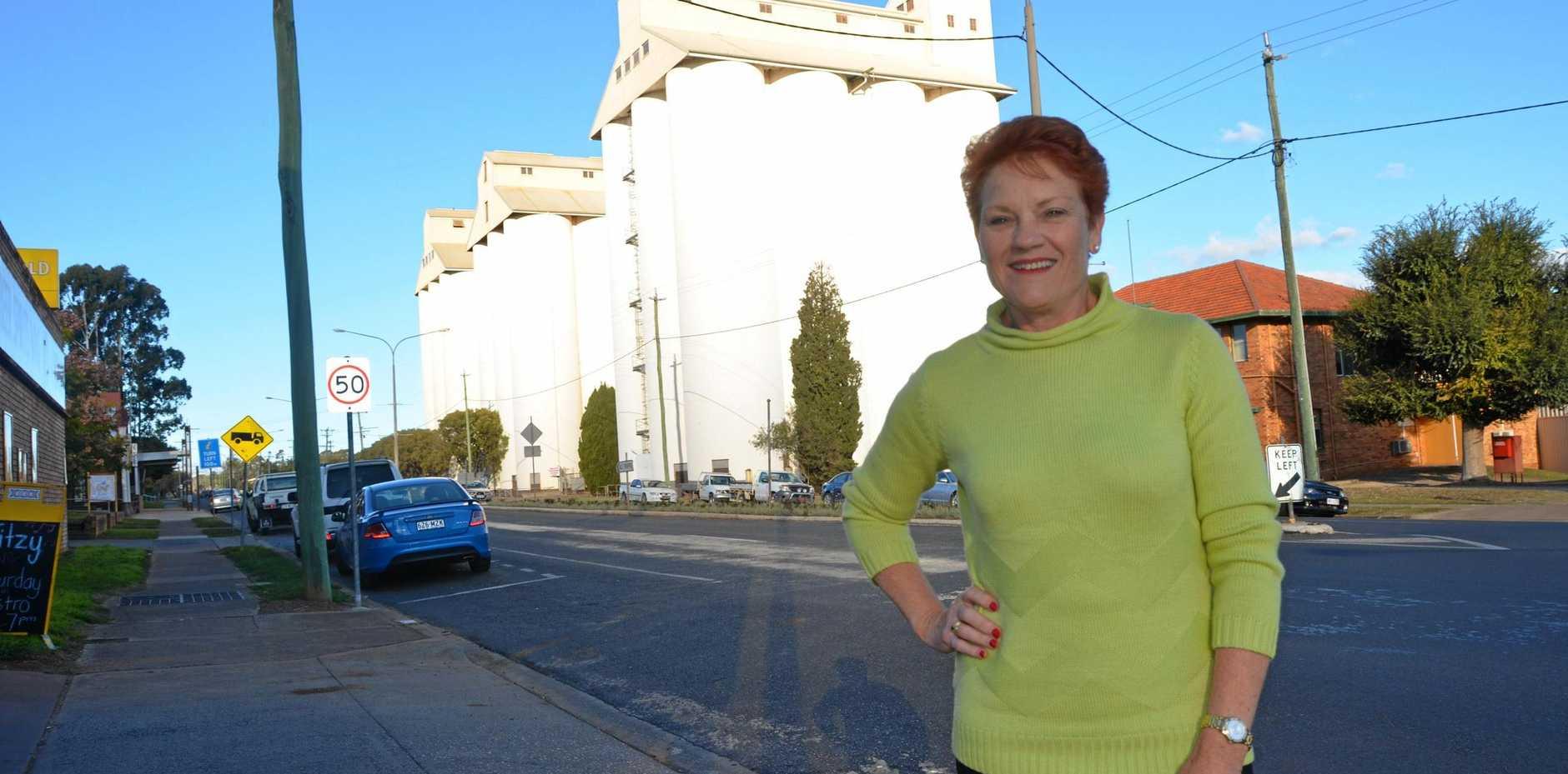 One Nation Senator Pauline Hanson was in Kingaroy on June 9.