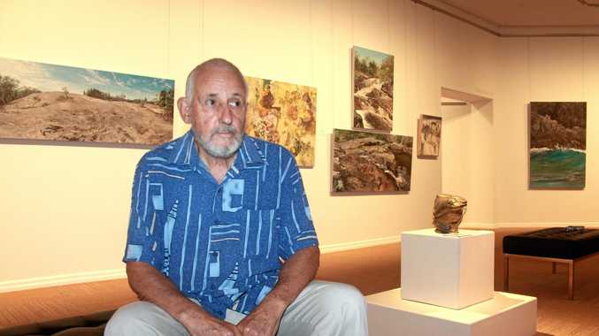 LOOKING BACK: Denis Brockie will showcase his works at an exhibit on Saturday night at the Stanthorpe Regional Art Gallery.