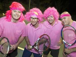Teams tackle court in tennis challenge