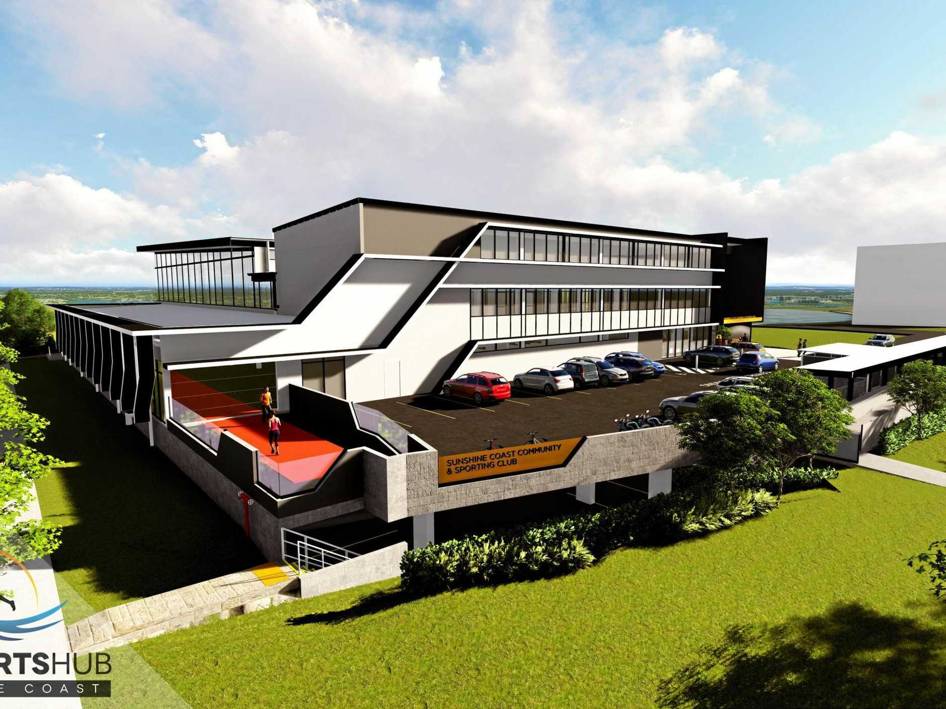 NEW: The Sports Hub, stage one of the new Coast sporting facility, is on its way.