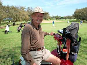 LOVING LIFE: Bargara's Ern Nankivell still enjoys a hit of golf at the ripe old age of 90.