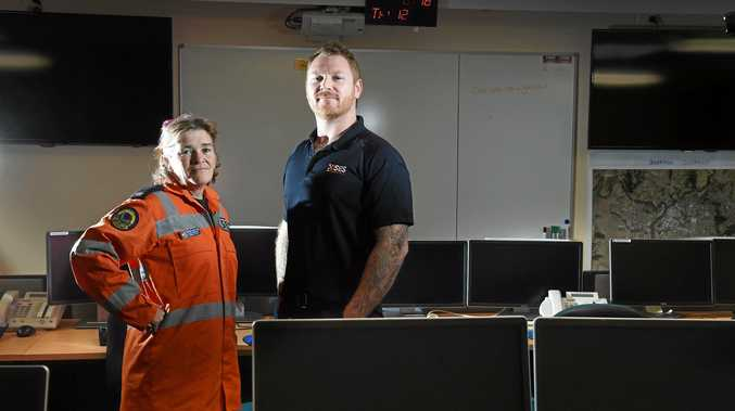 Acting deputy region controller for the Richmond/Tweed SES Chad Ellis and Lismore City SES local controller Melinda Mapstone are heartened to welcome new recruits to the organisation.
