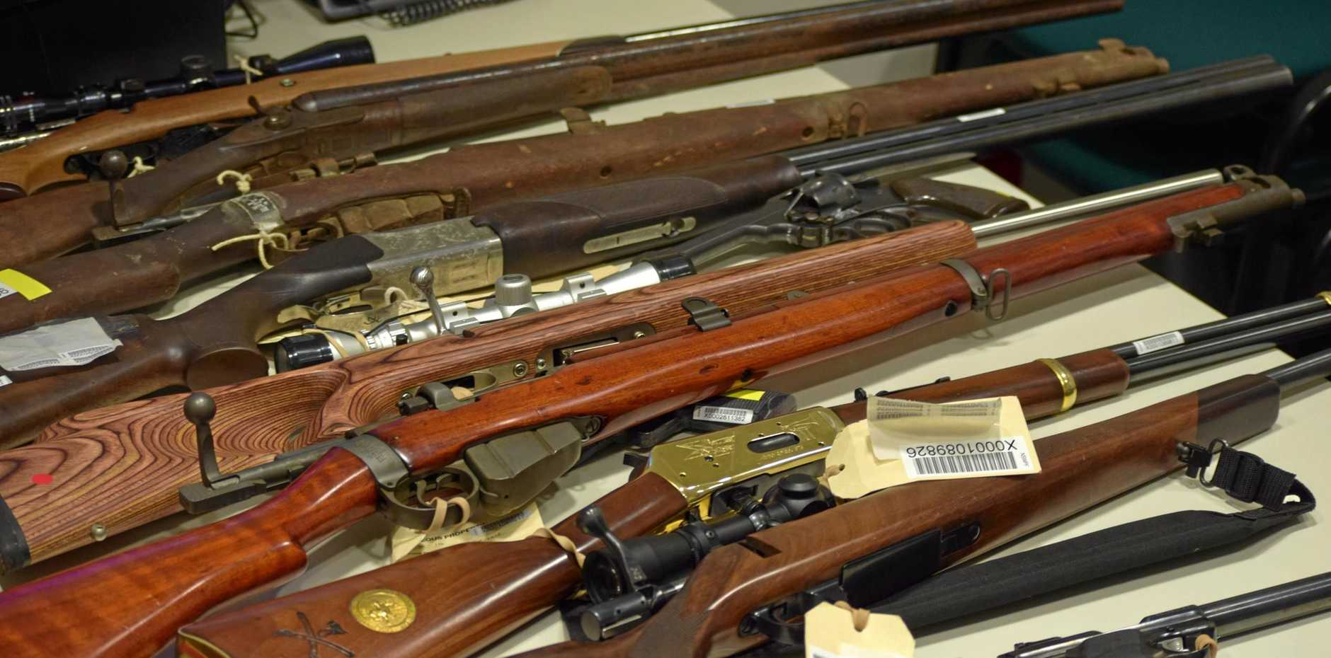 Guns collected by the Richmond Local Area Command during the state firearm amnesty, which concluded at the end of last month.
