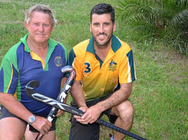 Rob Pohlman and Adam Byrne will represent Australia in masters hockey in Barcelona next year.