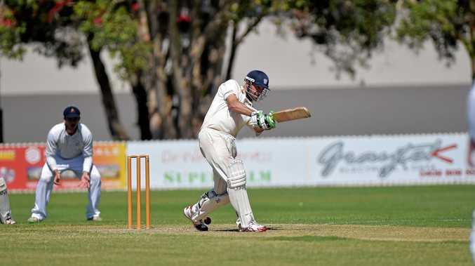 MAIN MAN: Caboolture batsman Glen Batticciotto, pictured during a game last season.