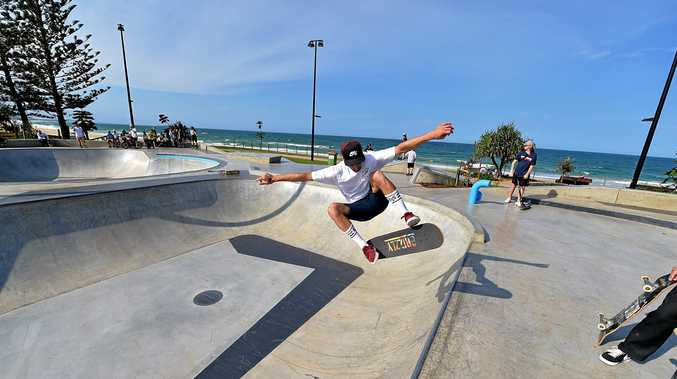 The new Alex Skate Park is open for business and attracting big crowds.Jacob Hudson is a big fan of the park.
