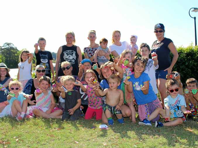 HOLIDAY FUN: Murwillumbah children are getting back to nature by hiding and finding painted rocks in parks.