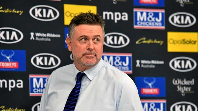 Newly appointed Canterbury-Bankstown Bulldogs NRL coach Dean Pay speaks at a press conference at Belmore Sports Ground in Sydney, Friday, September 29, 2017. (AAP Image/Mick Tsikas) NO ARCHIVING
