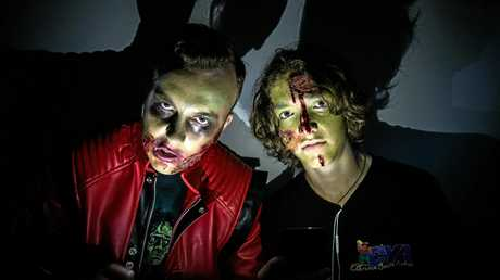 Jeremy Jablonski and Sage Kirby as Zombies ahead of the weekends Zombie Walk.