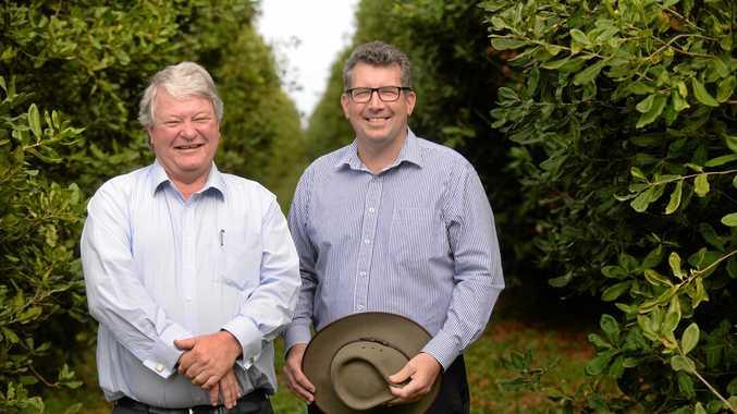 Member for Flynn Ken O'Dowd and Member for Hinkler Keith Pitt. Photo: Mike Knott / NewsMail