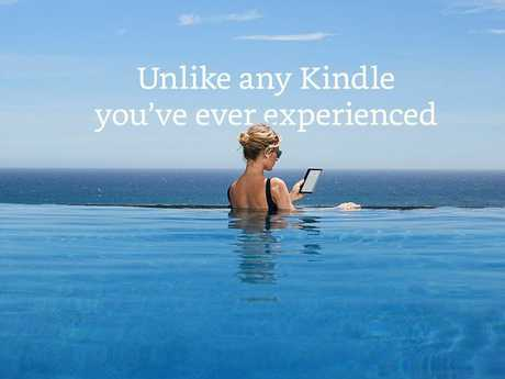 SUMMER READING: Amazon has released in time for the Australian summer a waterproof Kindle.