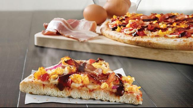 Domino's has tried a breakfast pizza in the past.