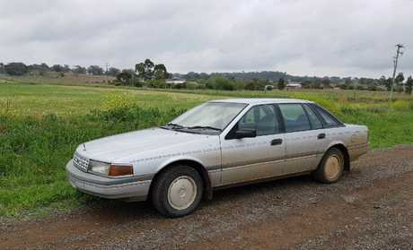 A 1990 Ford Fairlane was allegedly stolen from outside a residence in Allora today.