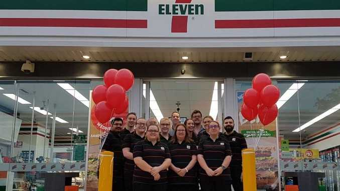 Left to right:Highfields 7-Eleven staff Aby Sam, Kellan Church, Lauren Page, Phil Brown, Amanda King, Daniel Power - Retail Business Manager, Corissa Hughes, Andrew Moore - Store Manager, Rheam Nendick, Pierre YousseffFront left to right:Rachel Harrison, Helen Phillips, Emily McVae