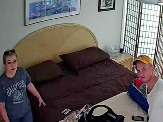 Derek Starnes and his wife were recorded in the bedroom of their Airbnb rental / Longboat Key Police