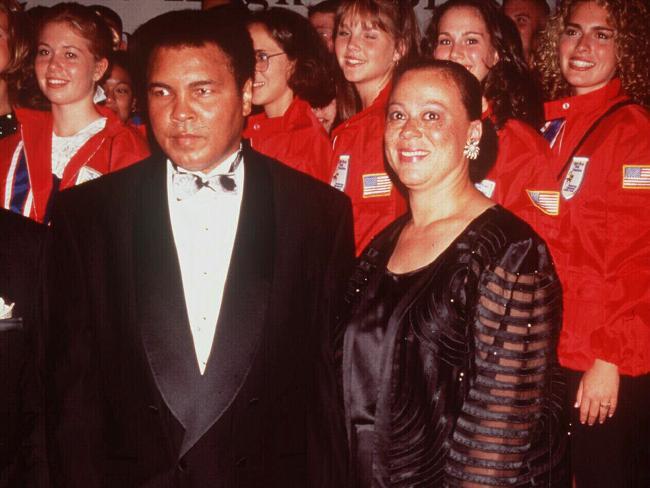 Muhammad Ali and fourth wife Lonnie.