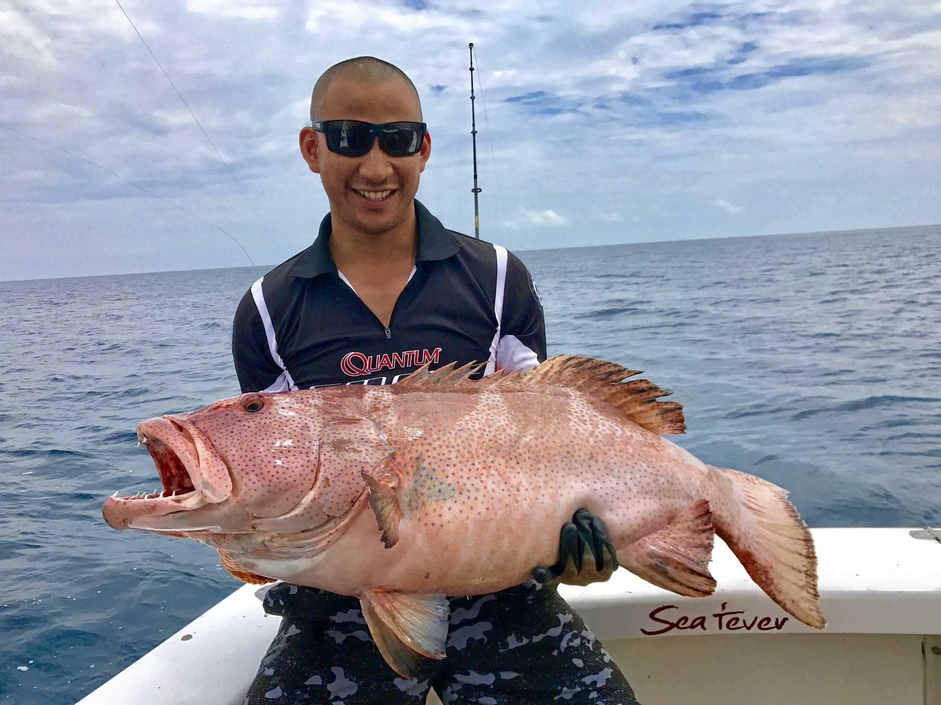 Anuk Hem from Adelaide caught and released this monster blue spot coral trout at the reef last week with Sea Fever Sportfishing.