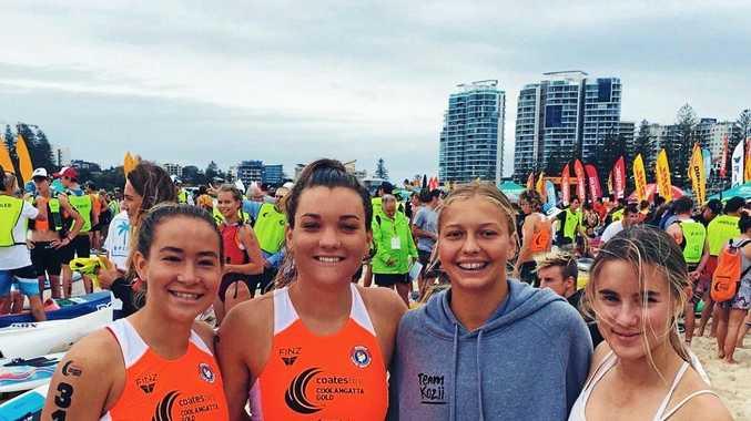 MIGHTY EFFORT: Sunshine Beach's crack Coolangatta Gold team of Talisa Brady, Liv Emanuel, Ruby Nolan and Sophie Boulton.