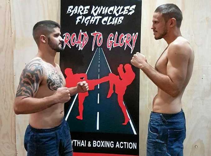 SHOWDOWN: Jye Willie (left) from Rhino MMA and Matt Shaw from Bare Knuckles Fight Club will have a rematch at this weekend's fight night.