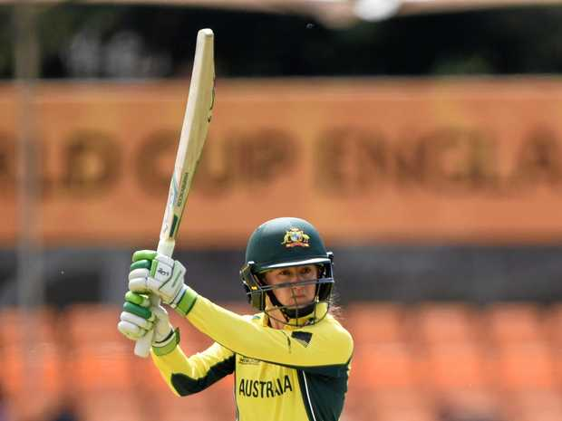 SKIPPER: Rachael Haynes batting for Australia during the ICC Women's World Cup.