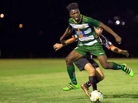 Western Pride footballer Saloman Lukonga.