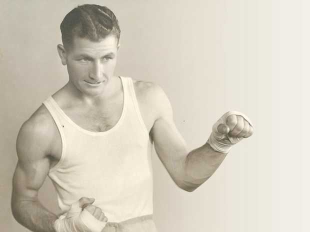 GENTLEMAN: Stan Daunt featured on a promotional boxing poster.