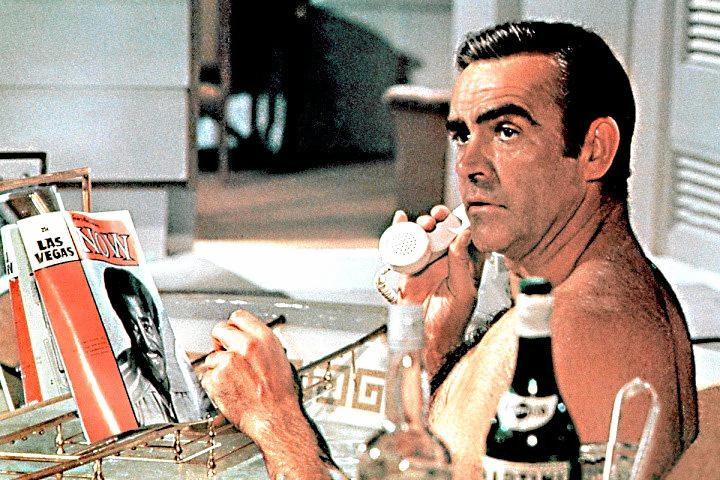 ORIGINAL: Sean Connery as James Bond. Connery delivered milk for the same company as Ipswich author Roy Henderson, who has written a 007 novel.