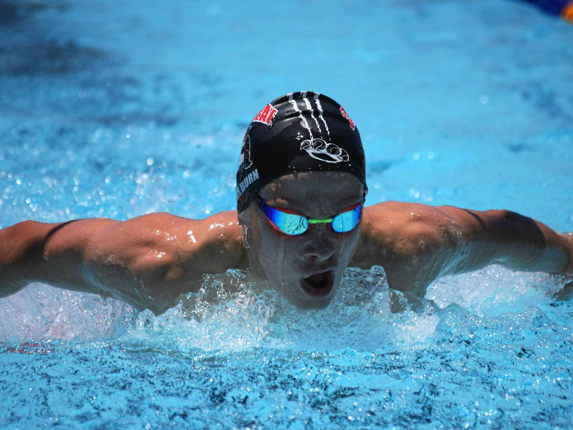 IN THE SWIM: Caribeae's Joe Milburn is one of the local swimmers expected to feature at today's Beef City meet.