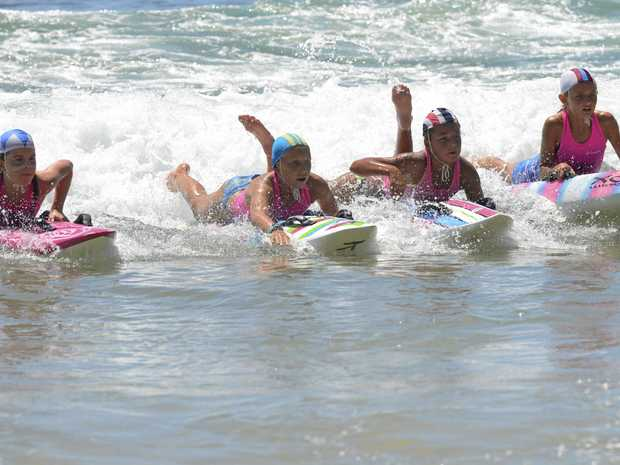 SPLISH SPLASH: Yamba Nippers, under the guidance of co-ordinator Danielle Connolly, will return to Main Beach for the new season on Sunday.